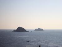 高島から臨む軍艦島