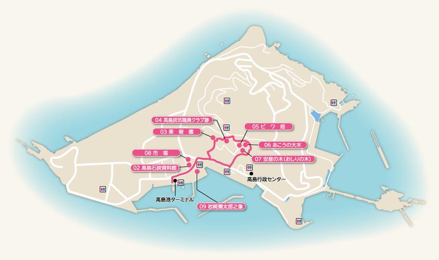 高島歴史コース-マップ