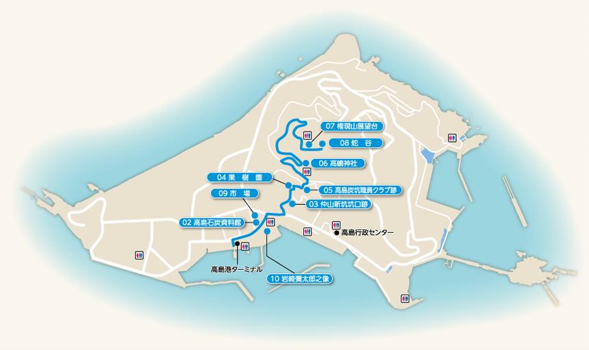 権現山散策コース-マップ