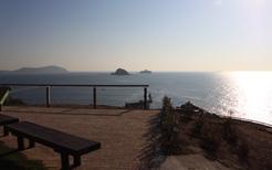 軍艦島が見える丘