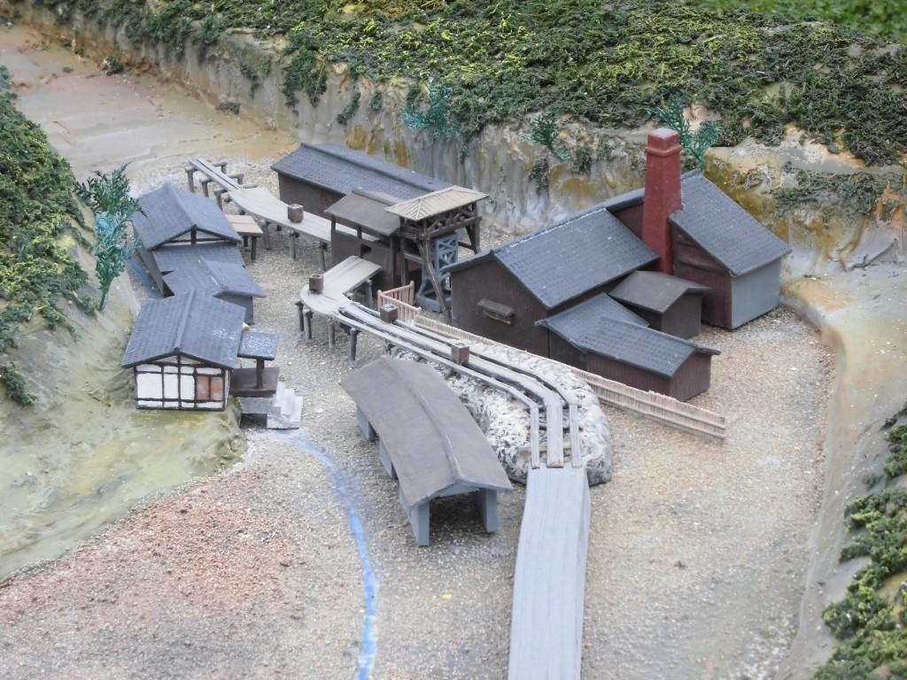 北渓井坑ジオラマ